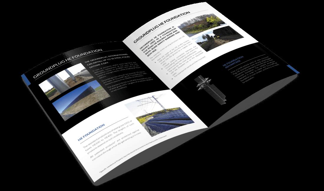Projekt broszury dla firmy GroundPlug