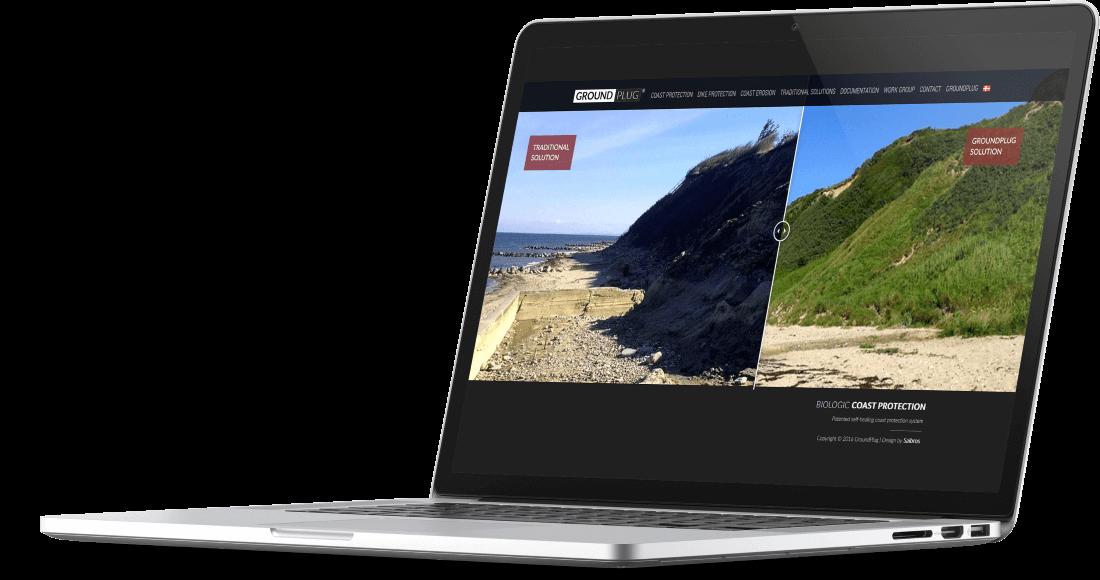 Responsywna strona www - opatentowany system ochrony nabrzeży