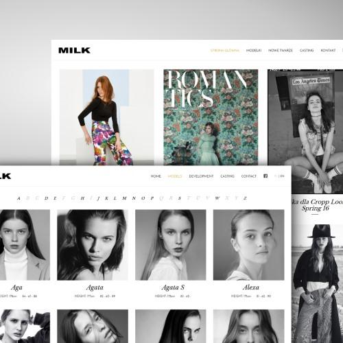 Responsywna strona internetowa agencji modelek z Wrocławia