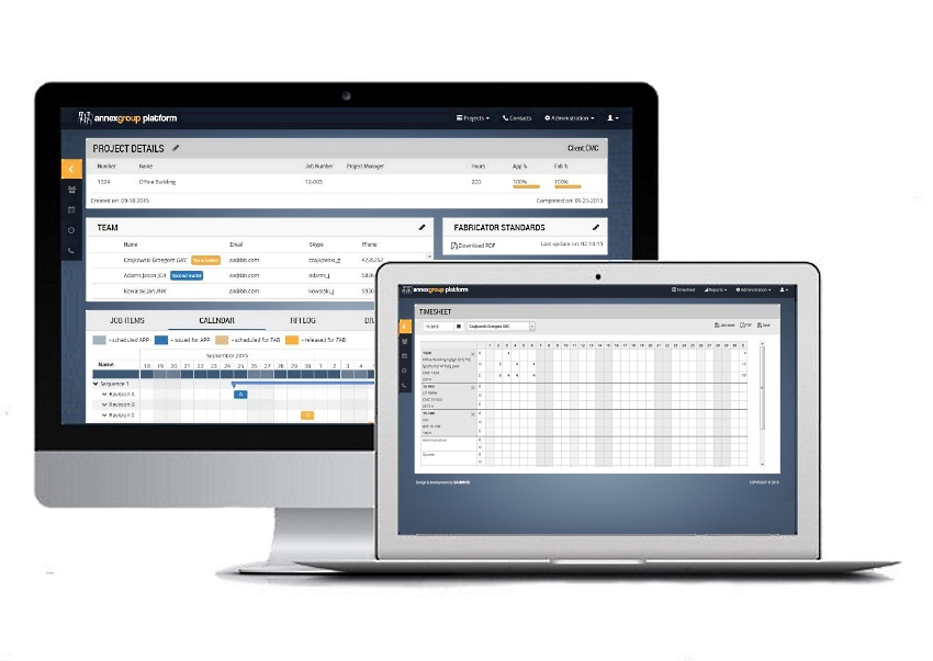 Custom web application for project management