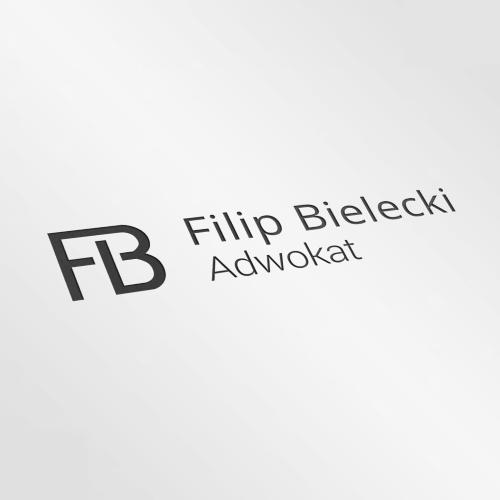 Projekt logo dla adwokata Filipa Bieleckiego