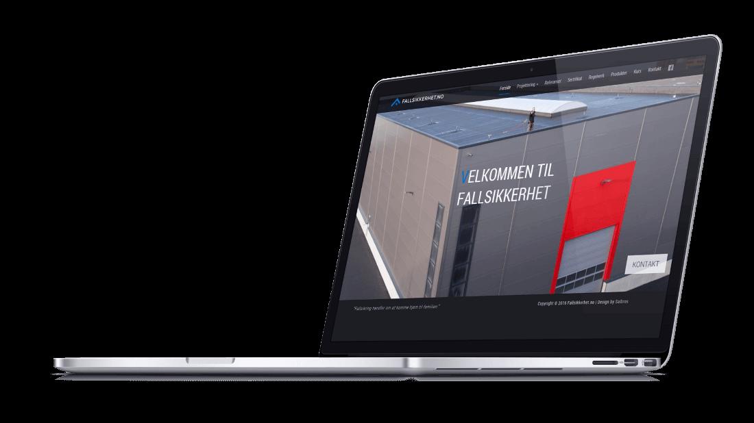 Website designed for Fallsikkerhet