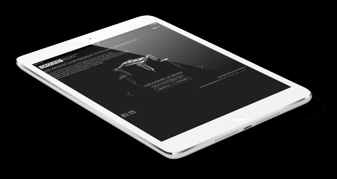 GroundPlug website - responsive design