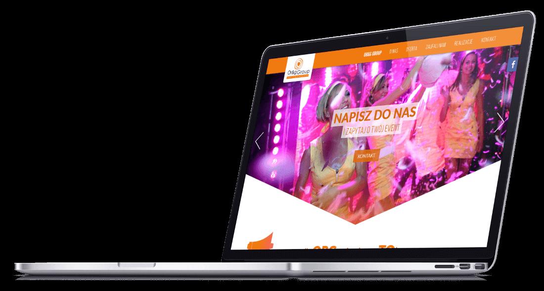 Responsywna strona WWW wykonana dla agencji eventowej