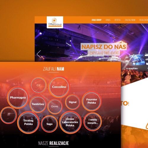 Responsywna strona www agencji eventowej
